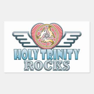 Holy Trinity Rocks Rectangular Sticker