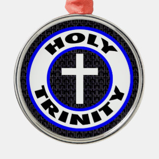 Holy Trinity Silver-Colored Round Decoration