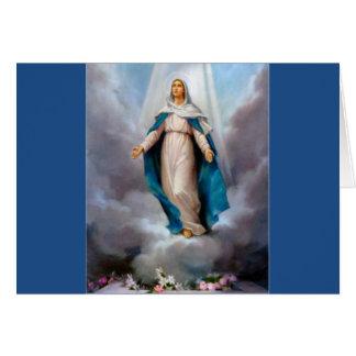 Holy virgin Mary, Jesus &  Gods Mother, saint Mary Card