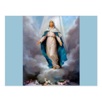 Holy virgin Mary, Jesus &  Gods Mother, saint Mary Post Card