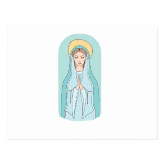 Holy virgin Mary, mother of Jesus,mother of God Postcard