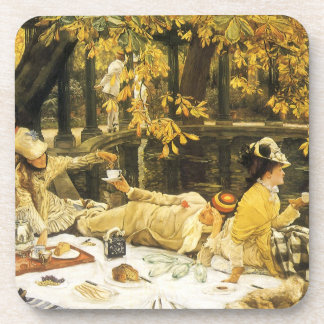 Holyday (The Picnic) by James Tissot Victorian Art Drink Coasters