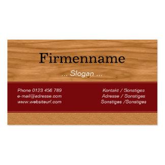Holz Furniture Visitenkarten Vorlage