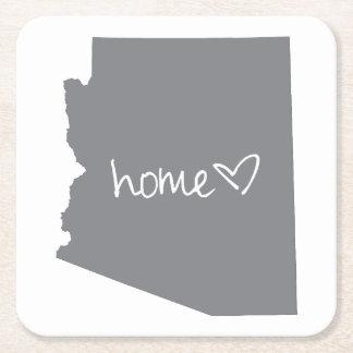 Home <3 Arizona Square Paper Coaster