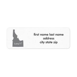 Home <3 Idaho Return Address Label
