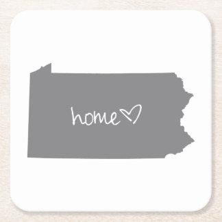 Home <3 Pennsylvania Square Paper Coaster