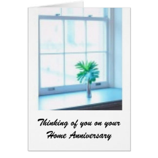 Home Anniversary - Real Estate Agent Greetings Card