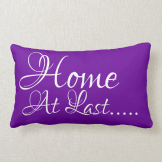 Home At Last Purple Solids Lumbar & Throw Pillows
