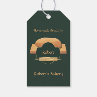 Home Baked Bread Bakery Icon Gift Tag