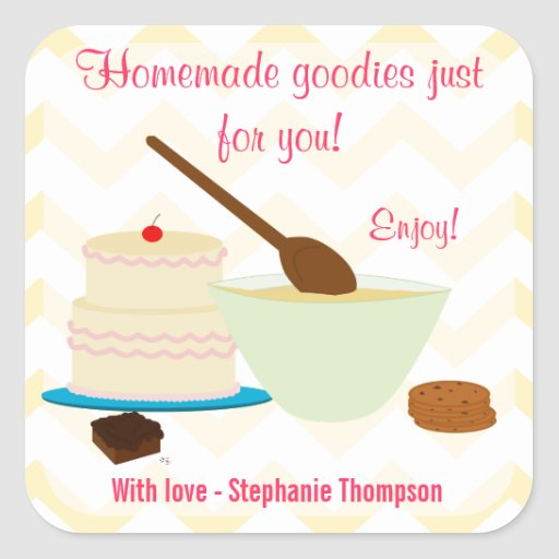 Home Baked Goodies Small Sticker