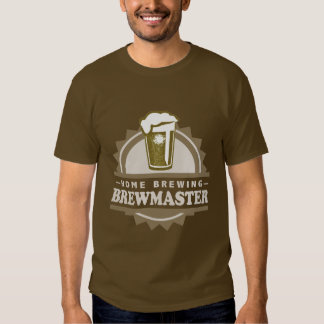 Home Brew Beer Brewmaster Tee Shirt