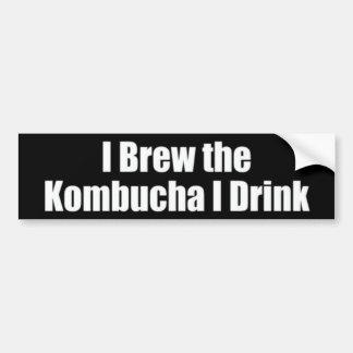 Home Brew Kombucha Bumper Sticker