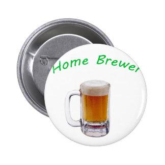 Home Brewer Pinback Button