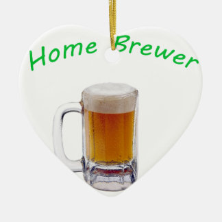 Home Brewer Ceramic Heart Decoration