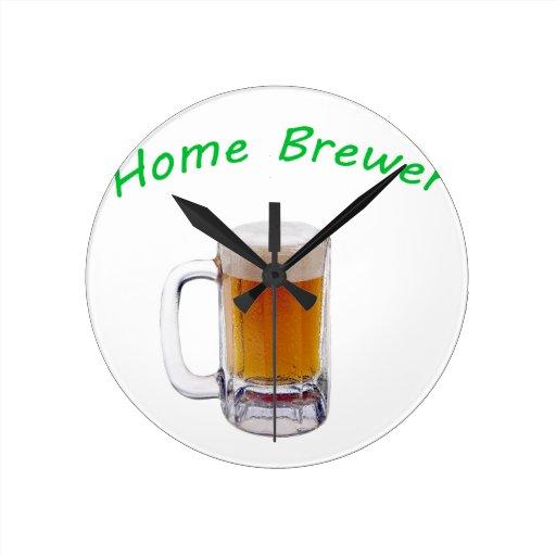 Home Brewer Round Clocks