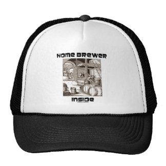 Home Brewer Inside (16th Century Woodcut Brewing) Trucker Hat
