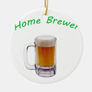 Home Brewer Round Ceramic Decoration