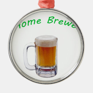 Home Brewer Silver-Colored Round Decoration