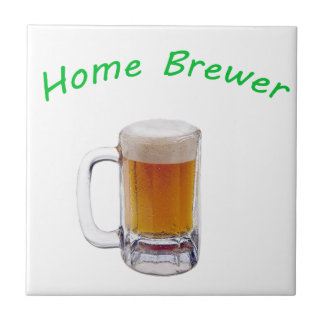Home Brewer Small Square Tile