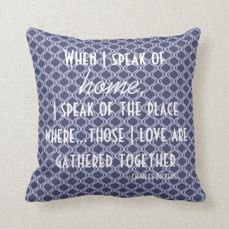 Home Charles Dickens Literary Quote Pillow
