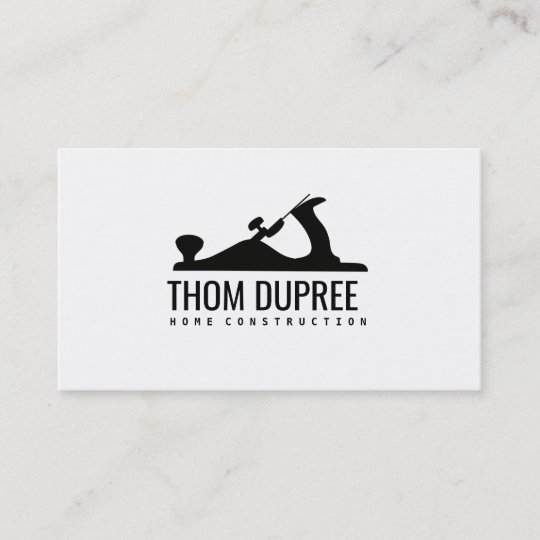 Home construction and carpentry wood plane logo business card home construction and carpentry wood plane logo business card reheart Gallery