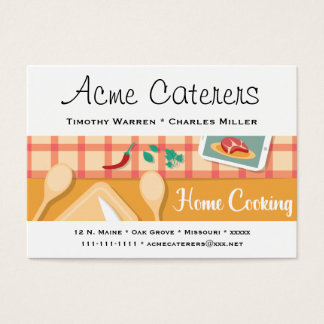 Home Cooking Catering Business Card