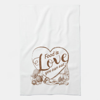 Home Cooking Outline Kitchen Towel