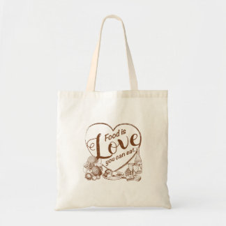 Home Cooking Outline Tote Bag