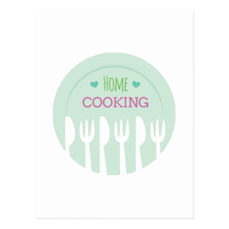 Home Cooking Postcard