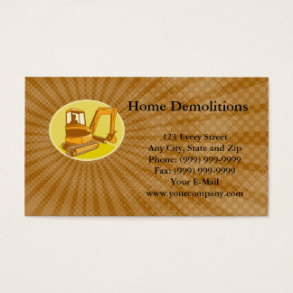Home Demolitions Business card