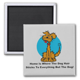 Home Dog Hair Square Magnet