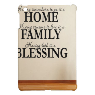 Home + Family = Blessing iPad Mini Cases