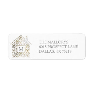 Home for the Holidays Return Address Label