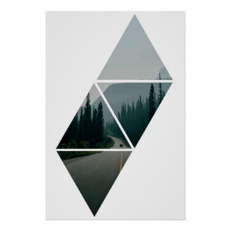 Home Forest Triangle Style Poster