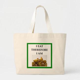 home fries large tote bag