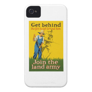 Home Front Join the Land Army WWI Propaganda Case-Mate iPhone 4 Cases
