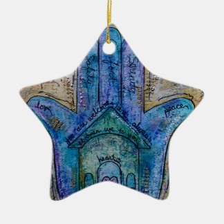 Home Hamsa Ceramic Ornament