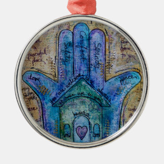 Home Hamsa Metal Ornament