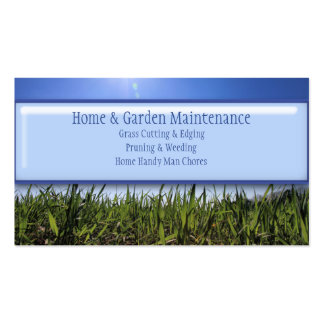 Home Handy Man Lawn Mowing Gardening Maintenance Double-Sided Standard Business Cards (Pack Of 100)