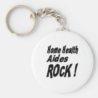 Home Health Aides Rock! Keychain