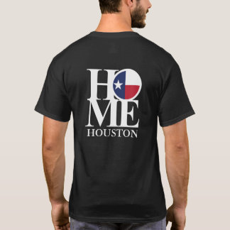HOME Houston Texas Black Tee