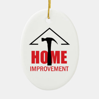 HOME IMPROVEMENT CERAMIC OVAL DECORATION