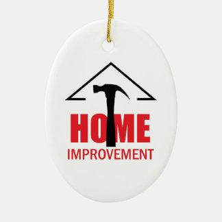 HOME IMPROVEMENT CERAMIC OVAL DECORATION
