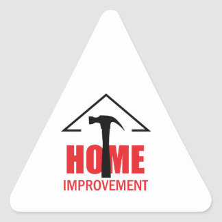 HOME IMPROVEMENT TRIANGLE STICKER