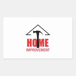 HOME IMPROVEMENT RECTANGULAR STICKER