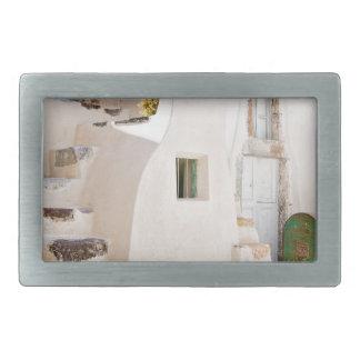Home in Santorini Belt Buckle