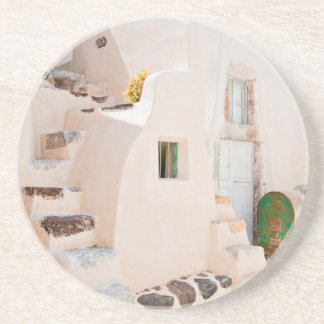 Home in Santorini Coaster