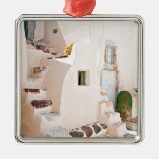 Home in Santorini Metal Ornament