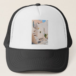 Home in Santorini Trucker Hat