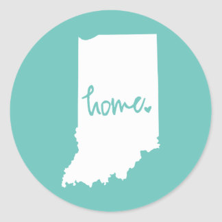 Home Indiana Custom Color Classic Round Sticker
